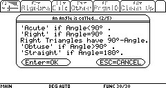 Angle Rules using the TI89 calculator