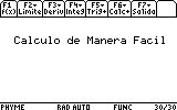 Calculo de Manera Facil App for the TiNspire calculator
